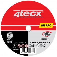 DOORSLIJPSCHIJF METAAL A60W-T41 PRO 4TECX 230X2.5X22.2MM